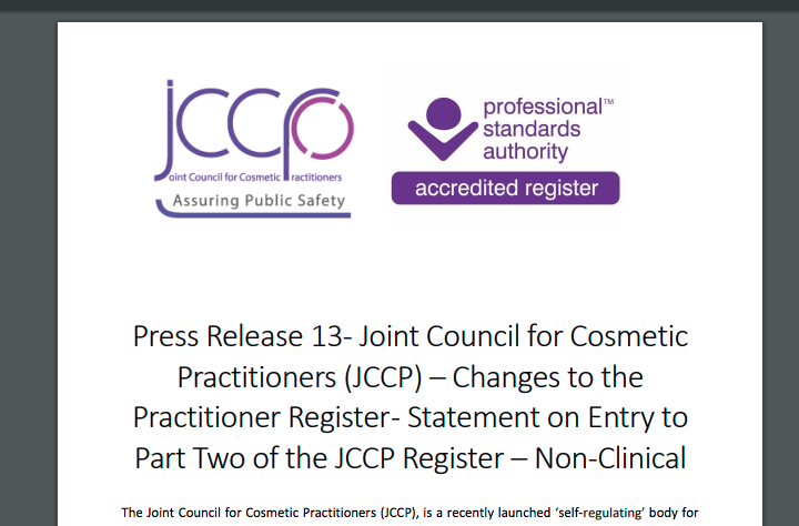 JCCP Restricts Injectables to Healthcare Professionals