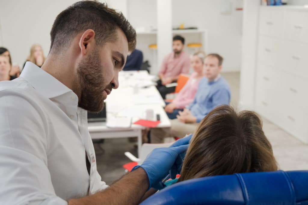 Level 7 Diploma in Injectables - Dr Tristan Mehta treats a patient during an Observation Day