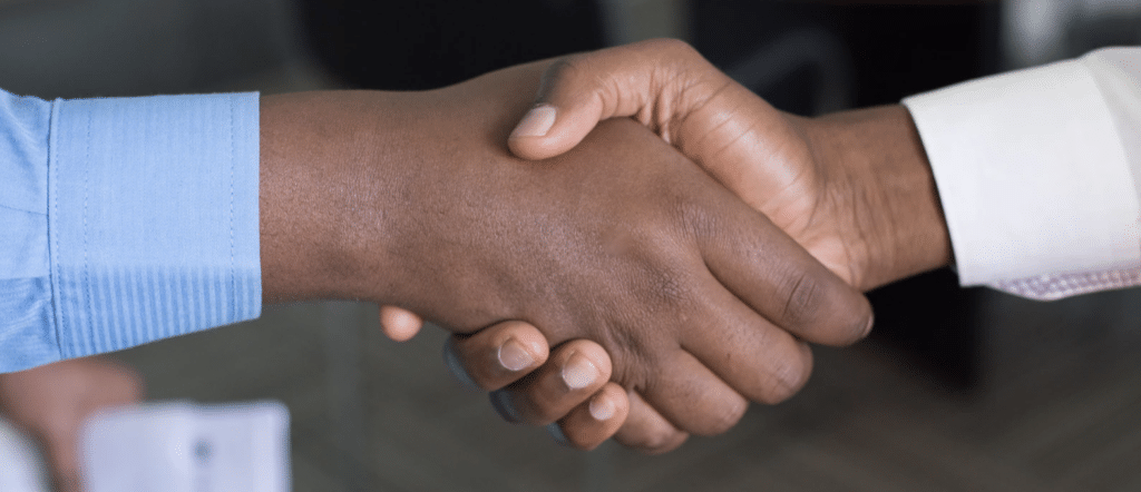 Handshake agreement - JCCP working towards aesthetics regulation UK - Harley Academy aesthetic medicine training courses