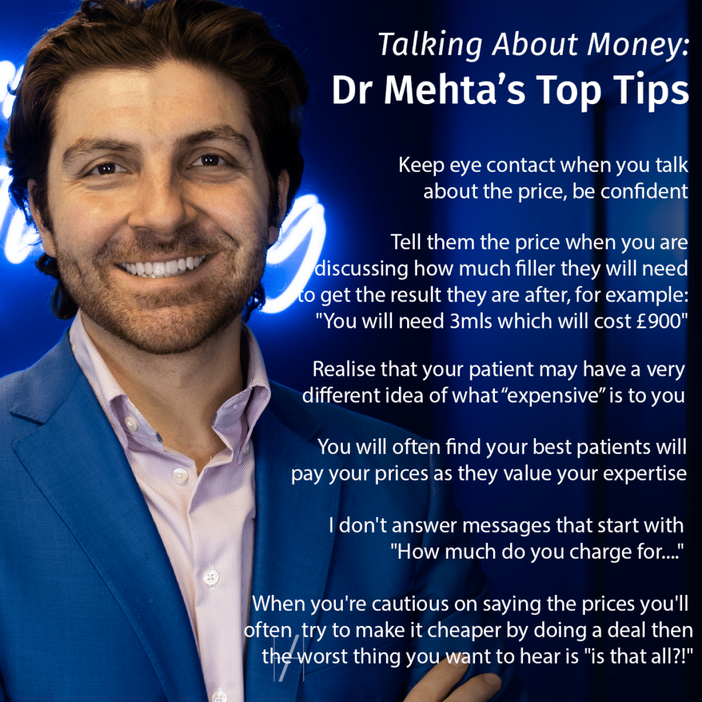 Talking to Aesthetics Patients About Money - Advice from Dr Marcus Mehta - Harley Academy Aesthetic Medicine Training Courses