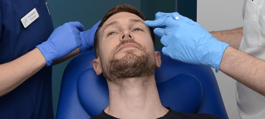 BROTOX Botox for men - administering botulinum toxin anti-wrinkle treatment for men - Harley Academy Aesthetic Medicine Training Courses
