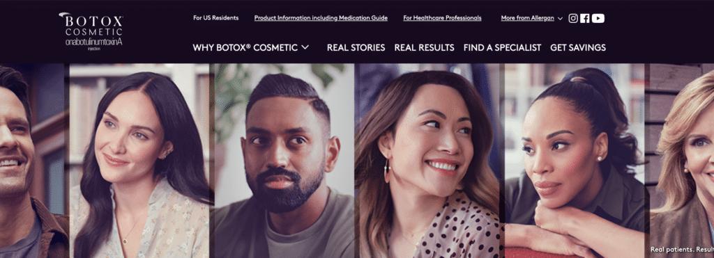 Allergan botox aesthetics marketing campaign