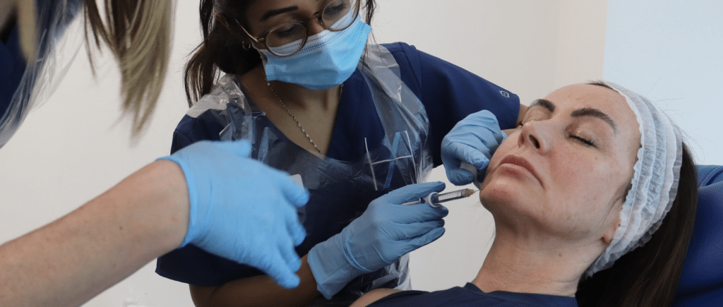 Chin filler training course aesthetic medicine level 7 one to one aesthetics mentorship Harley Academy