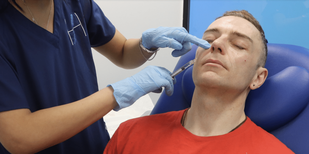Medical aesthetics practitioner advice injecting cheek filler for beginners Harley Academy Aesthetic Medicine training courses Level 7