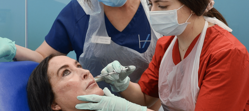 Aesthetics mentor one-to-one trainingPreventing lumps from dermal filler advice from aesthetics experts Harley Academy aesthetic medicine training courses level 7 injectables