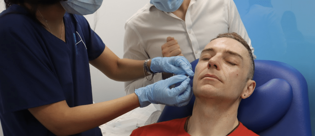 Using a cannula to inject dermal fillers - Harley Academy aesthetic medicine training courses Level 7 one-to-one mentoring injectables