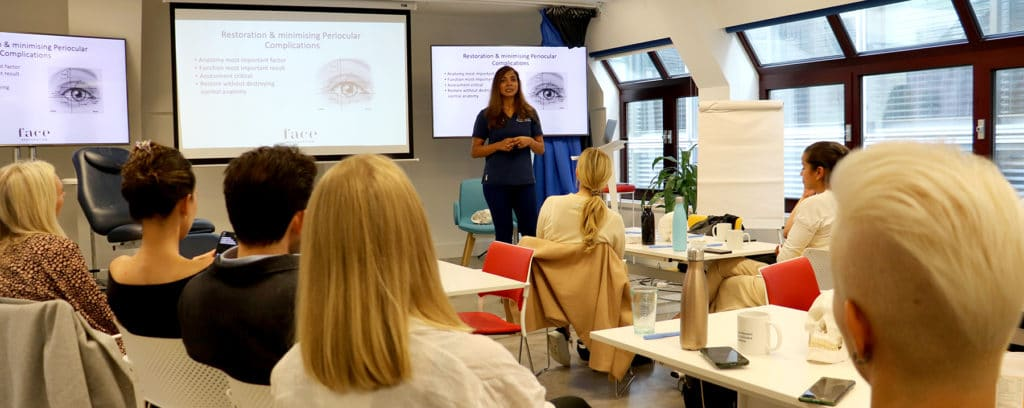 Periocular training session Harley Academy Faculty Day vision loss aesthetics complications